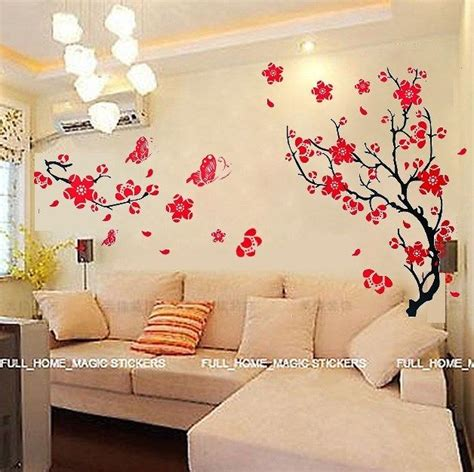 blossom flowers tree wall stickers mural decal
