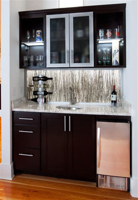 Above Kitchen Cabinet Decorating Ideas by Wet Bar Eclectic Living Room Charleston By Element