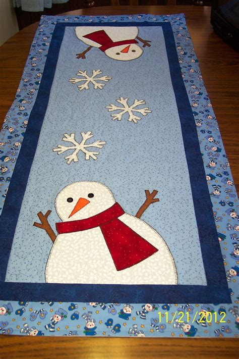 snowman table runner and placemats snowman table runner runners placemat and ideas