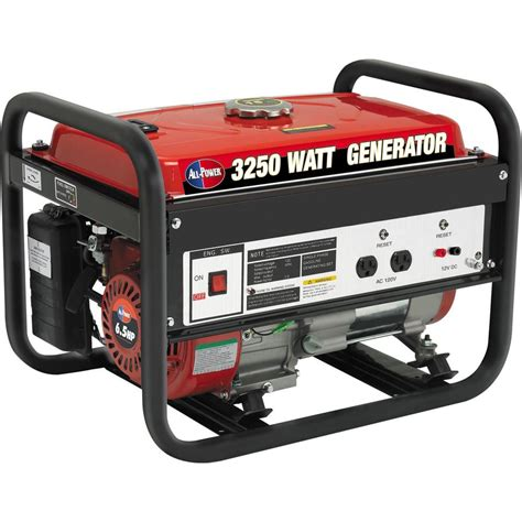 all power 3 250 watt 4 cycle gasoline powered portable
