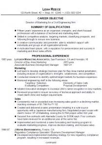 Resume Director Of Marketing For Civil Engineering Firm