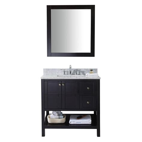 Vanity In Italian by Virtu Usa Winterfell 36 In Vanity In Espresso With Marble