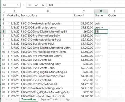 pattern matching in excel first look excel 2013 ars technica