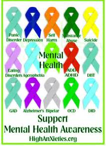 depression ribbon color mental health awareness ribbons