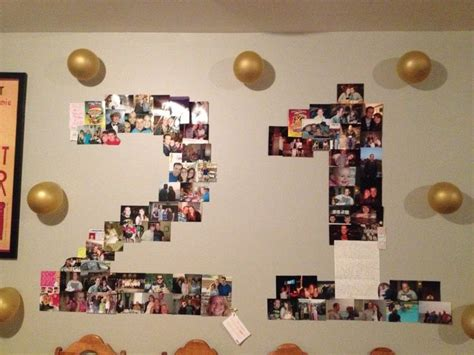 21st Birthday Decorations by I Made This Photo Collage For Husband S 21st Birthday 21st Birthday Ideas