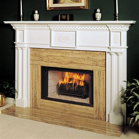 Renaissance 58 In X 42 In Wood Fireplace Mantel Surround Wood Fireplace Surround