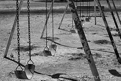 black swing set black and white swing set stock photography image 1107922