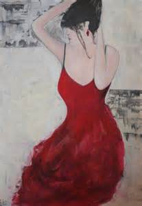 tableau peinture femme danse moderne femme