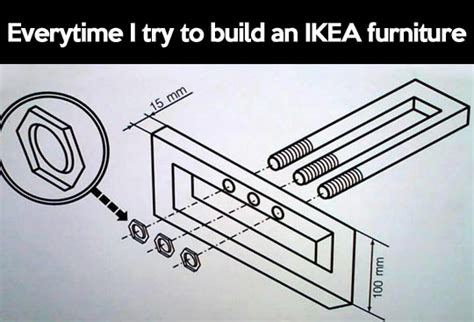 Ikea Furniture Meme - trying to build ikea furniture the meta picture