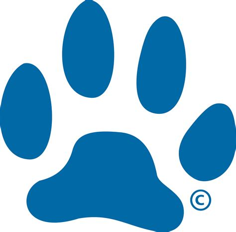 paw print powerpoint template blue paw print logo clipart best