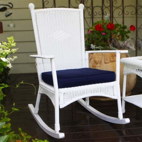 outdoor patio rocking chairs tortuga outdoor portside classic wicker rocking chair
