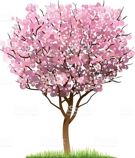 cherry tree vector cherry blossom tree stock vector 594076914 istock