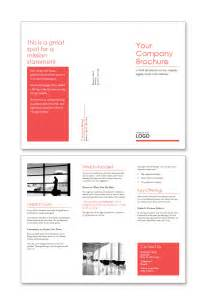 free trifold word brochure template red design set