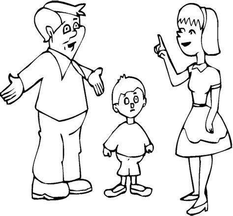 coloring pages of family members coloring pages ideas