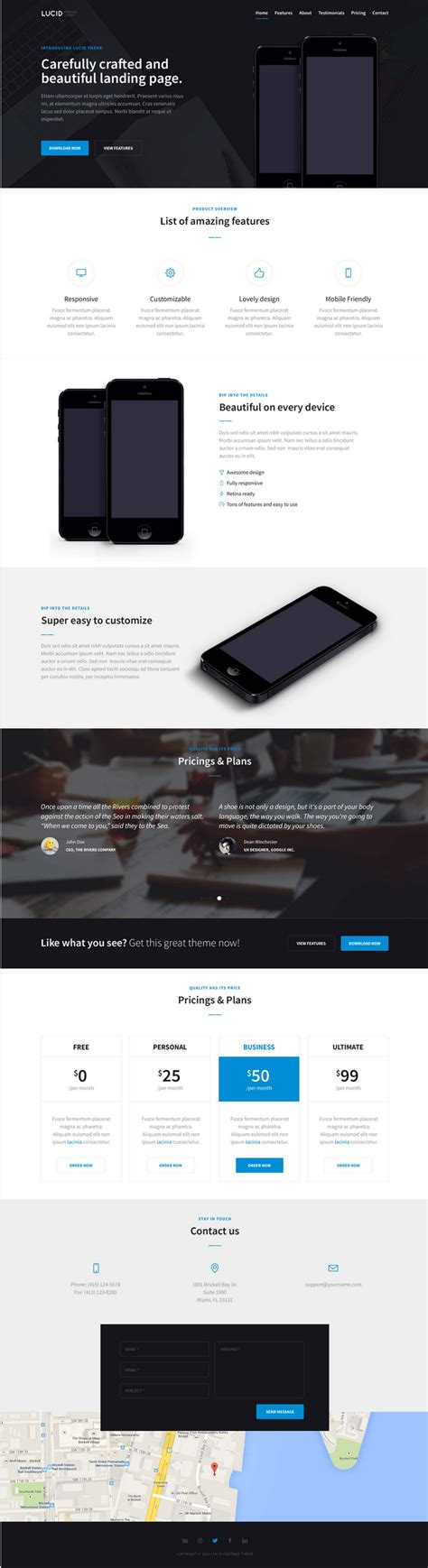 bootstrap landing page template free lucid free bootstrap landing page template bypeople