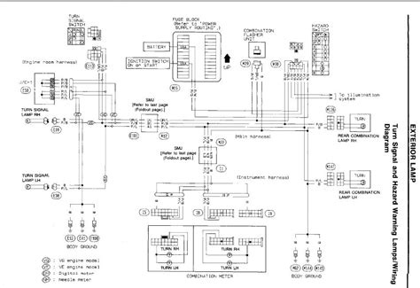 multifunction switch harness wiring diagram nissan