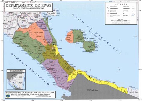 political map of nicaragua political divisions of southern nicaragua map mappery
