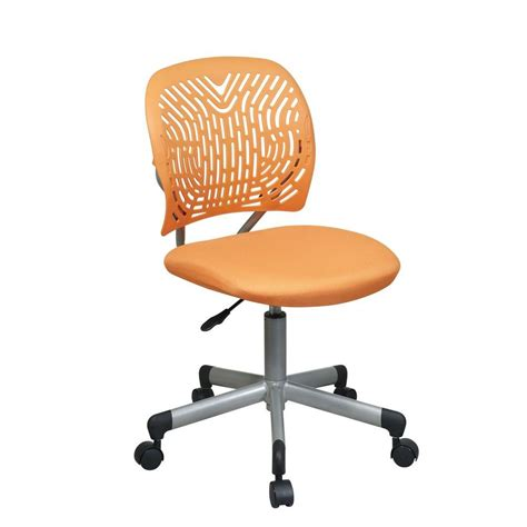 Office Chairs Home Depot Office Screen Back Task Chair In Black Em20222 3