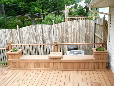 garden bench made from decking 17 best images about decks benches on pinterest