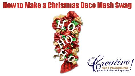 How To Decorate A Swag For by Decorating A Deco Mesh Swag Using A Work Rail