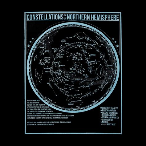 glow in the dark poster glow in the dark constellation poster space astronomy