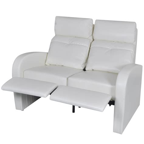 White Recliner Sofa by White Artificial Leather Home Cinema Recliner Reclining
