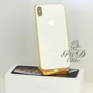 apple iphone xs max 64gb 24k gold plated factory unlock with blk screen 190198786043 ebay