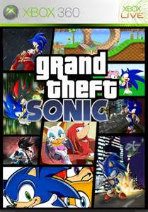 grand theft sonic xbox 360 box cover by bkbusters