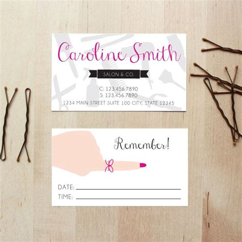 Business Cards With Appointment On Back hair stylist business cards with appointment reminder on