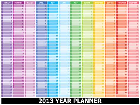 free printable yearly planner 2013 year planner 2013 schoolyear planner 2013 点力图库