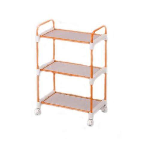 ore international orange 3 tier utility cart nor 1002