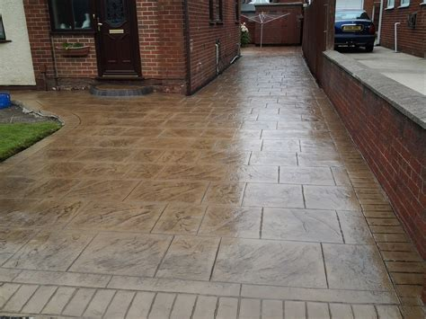 Pattern Imprinted Concrete Driveways Wigan   DHAD