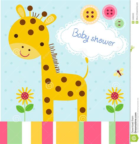 Pictures Of Baby Shower by Baby Shower Card Stock Vector Image Of Greeting Card