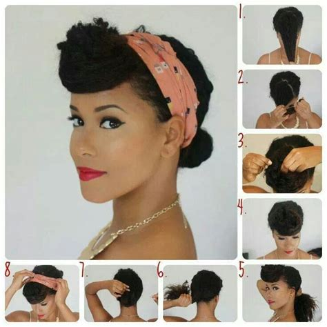 Natural Hair Pinned Up | pin up hair natural a hairy situation pinterest