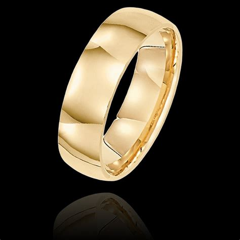 Handcrafted Mens Wedding Bands - 6 mm mens wedding bands in 14kt yellow gold handcrafted