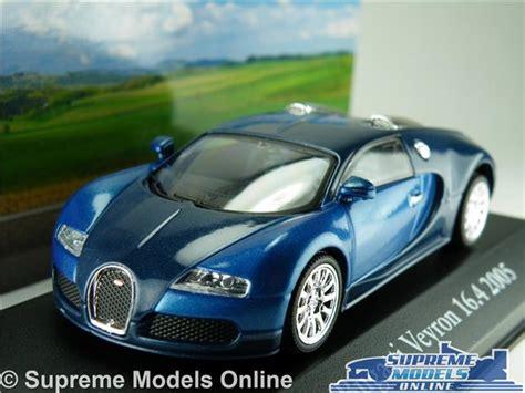 bugatti veyron model car 1 43 scale 2005 blue ixo atlas