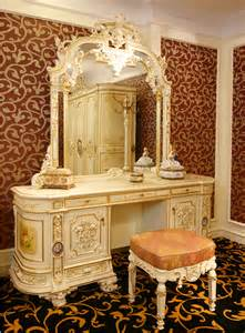 Expensive Bedroom Vanity Luxury Rococo Bedroom Furniture Dresser Table