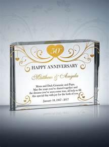 golden anniversary gifts 50th golden wedding anniversary gifts diy awards