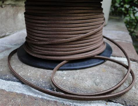 antique cable wire covers 250 antique brown rayon cloth electrical wire cord l parts the bay
