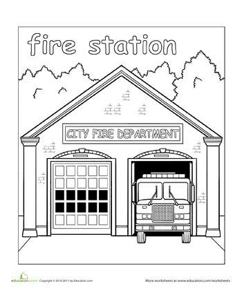 paint the town fire station coloring pages pinterest