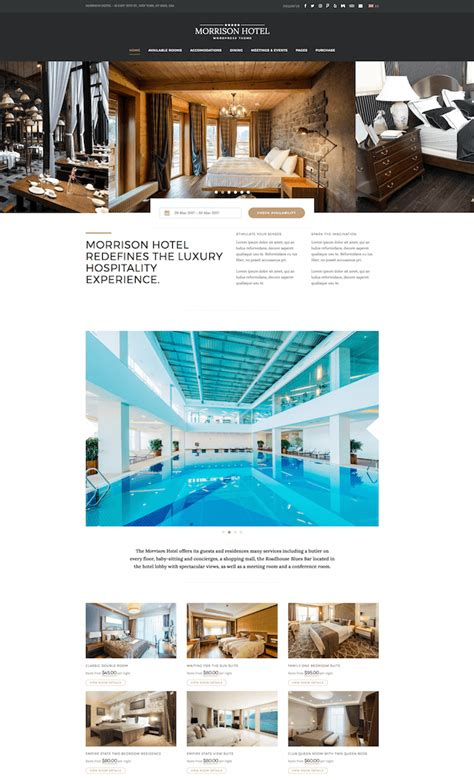 theme hotel download 20 best wordpress themes for hotels 2017 wildemuse com