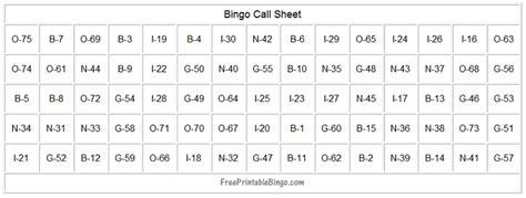 printable bingo numbers to call how to play bingo free printable bingo