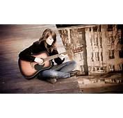 Girl Playing Guitar  Mystery Wallpaper