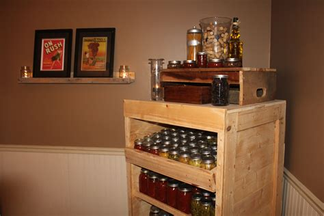 how to make a pantry out of a bookcase using pallets to build a canning pantry cupboard an