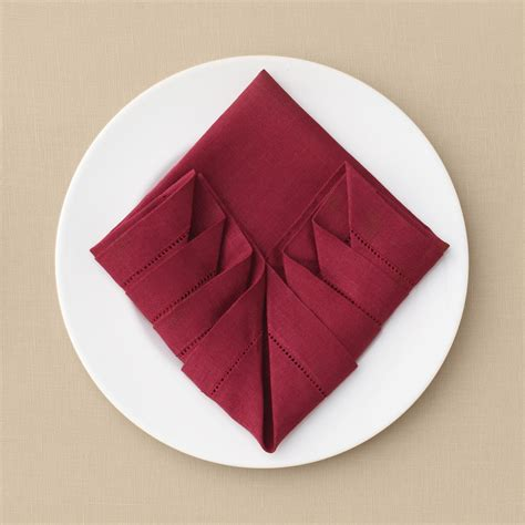 pleated napkin fold martha stewart weddings