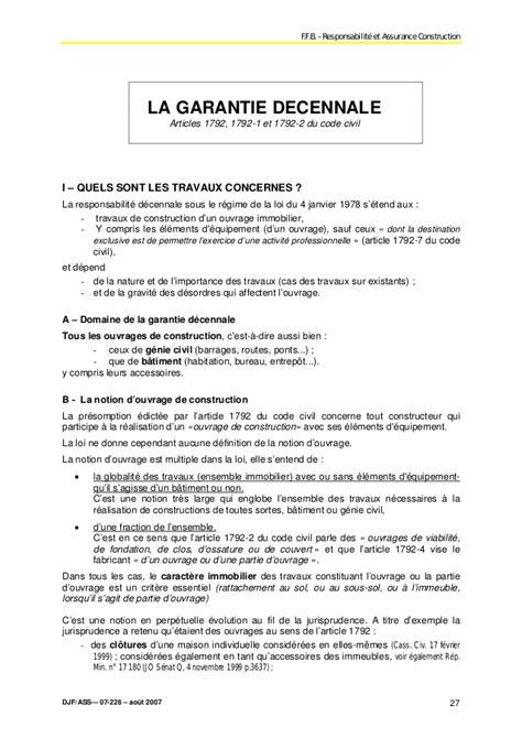 Exemple Lettre De Garantie Des Travaux Modele Lettre Garantie Decennale Constructeur Document