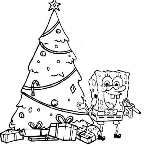 Spongebob Happy Christmas Coloring Page Coloring Pages Spongebob Merry Coloring Pages