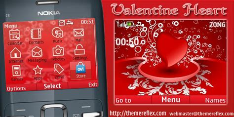 nokia themes valentines day valentine heart nokia c3 x2 01 themereflex