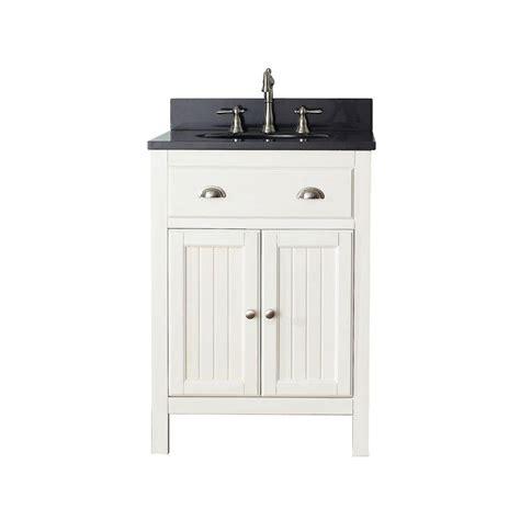 white bathroom vanity with black top avanity hamilton 25 in w x 22 in d x 35 in h vanity in