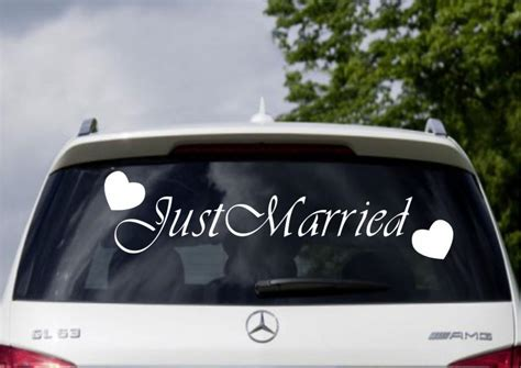Auto Sticker Just Married by Just Married Car Window Banner Vinyl Sticker Decal Wedding